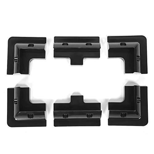 Panel Mounting Bracket ABS Solar Panel Corner Bracket Drill Free Mounting Kit Accessory for RV Yacht Caravan(Black)