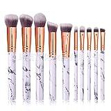 Brochas De Maquillaje Set 10 Conjunto De Pinceles De Maquillaje Marmolados Herramientas De Belleza De Maquillaje Con Pincel De Sombra De Ojos