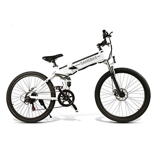 Elektrofahrrad Ebike Mountainbike Klapprad 26 Zoll mit 48V Lithium-Akku 500 W Motor SHIMANO 21-Gang Scheibenbremse LCD-Messgerät ebike für Männer Frauen Erwachsene [EU STOCK]