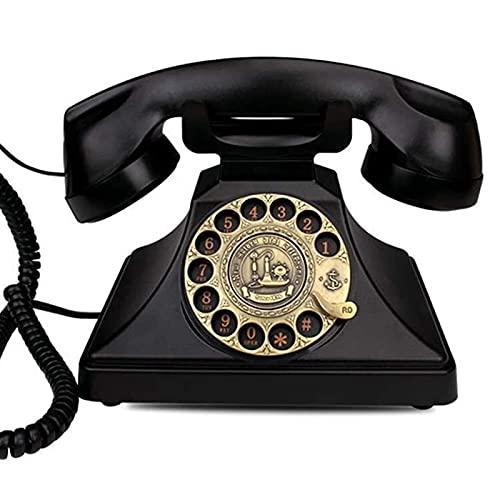 Figurines de estatua de escultura para la habitación de la casa patio patio césped decoración al aire libre retro decorativo creativo teléfono dial teléfono teléfono vintage teléfono fijo pulsador ret