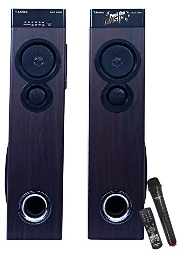 T-Series Blast 10500X Multimedia Tower Speakers System (Black) with Built-in Amplifier Design with Mic