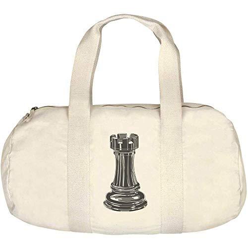 Azeeda 'Rook Chess Piece' Canvas Duffle / Gym Bag (DF00014919)