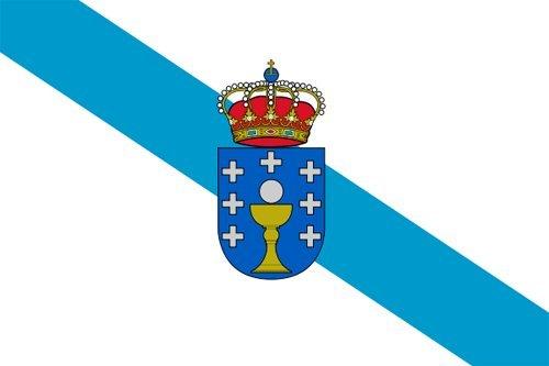 Pegatina vinilo impreso para coche, pared, puerta, nevera, carpeta, etc. Bandera de galicia