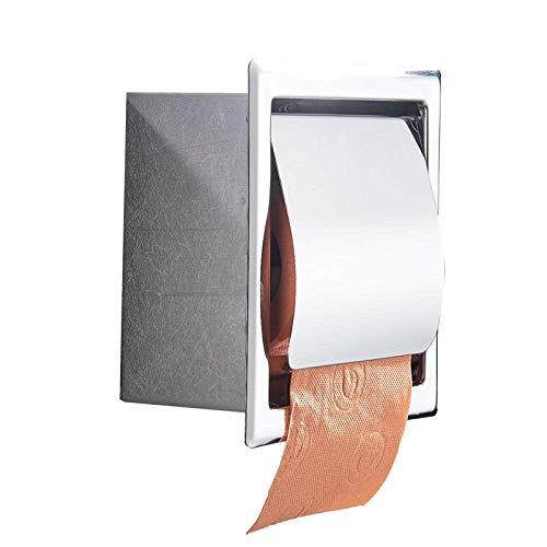 ZJN-JN Tissue Holder for Bathroom Edelstahl Matt Wc Papier Halter Poliert Wand Montiert Verborgen Bad Rolle Papier Box Wasserdicht Practical Bathroom Toilet Paper Holder