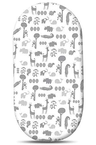Couxily Spannbettlaken Kinderwagen Stubenwagen Matratze Kinderwagen Einlage Kinderwagen Matratzenbezug Kinderwagenmatratze Kinderwagen Spannbettlaken Bettlaken Kinderbett (1 Stück -A08)