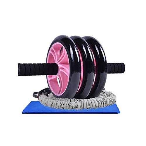 Discover Bargain Hongyushanghang Fitness Roller, AB Wheel, Silent Men's 3-Wheel Chest Muscle Trainin...