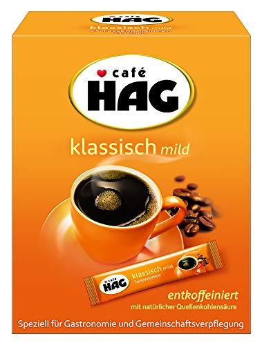 Café HAG Klassisch Mild Tassenportion, Instant Kaffee, entkoffeiniert, handliche Portionsbeutel, 8er pack ( 8 x 25 x 1,8g = 360g)