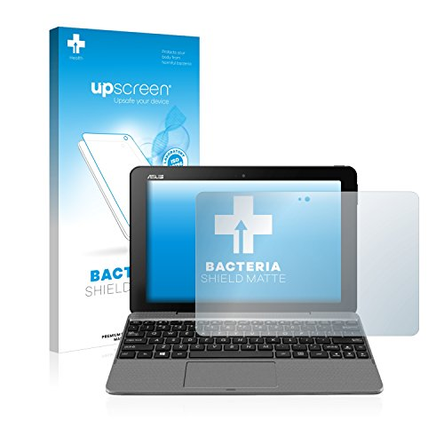 upscreen Antibakterielle Entspiegelungs-Schutzfolie kompatibel mit Asus Transformer Book T101 - Anti-Reflex Bildschirmschutzfolie matt, Anti-Fingerprint