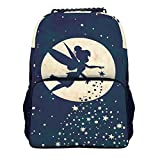Tinkerbell And Fairy Flying School Bag Travel Backpack Business Daypack for Men Women Girls Boys School College 16 Inch