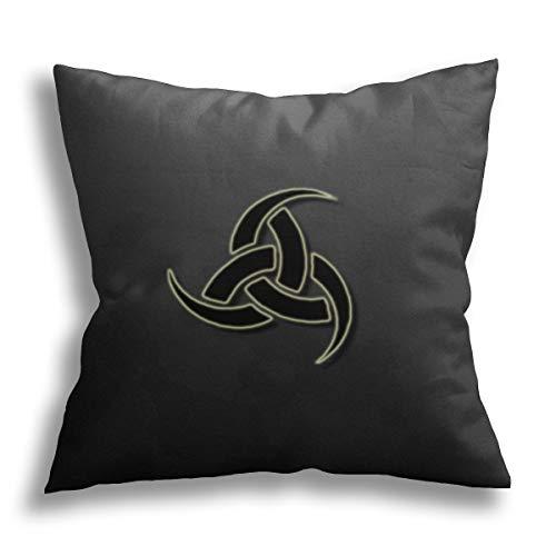 Ravens Norse Mythology Viking - Funda de almohada cuadrada suave decorativa para salón, sofá, dormitorio con cremallera invisible