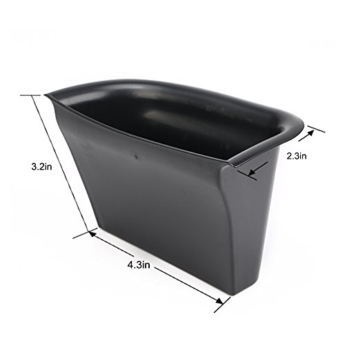 VESUL Front Row Door Side Storage Box Fit for Volvo S90 2017-2020 V90 Cross Country V90 CC 2017-2020 Armrest Phone Container Door Organizer Handle Pocket ABS Tray Insert Glove Pallet