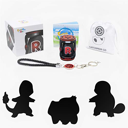 megacom Pokemon Go Plus Catchmon Go, Auto Catch, Spin, Speedy Upgrade to Earn Candy, XP & Stardust, Keep Connecting in The Background (Black)