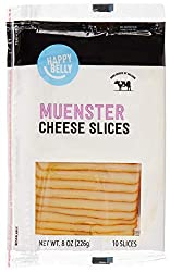 Amazon Brand - Happy Belly Sliced Muenster Cheese, 10 Slices, 8 Ounce Pack