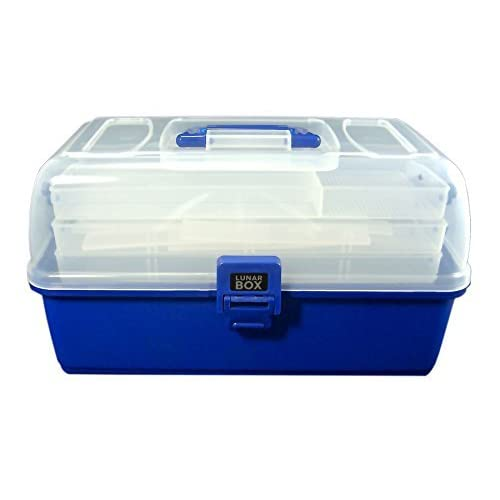3 Tray Cantilever Fishing, Crafts and Sewing Box, Adjustable Compartments