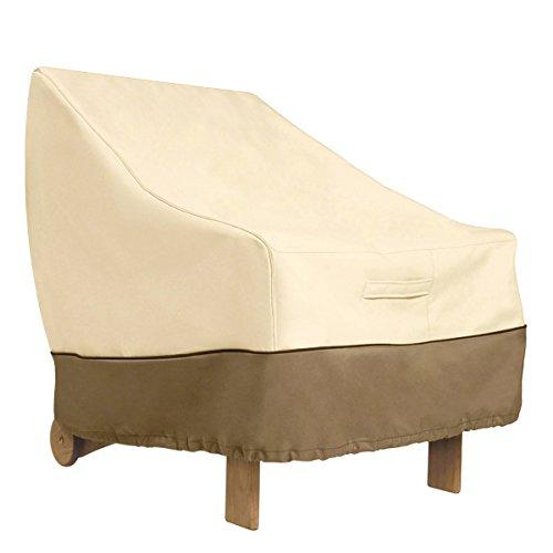WINOMO Housse de Protection pour chaises empilables Bâche de Protection de Jardin Lounge extérieur
