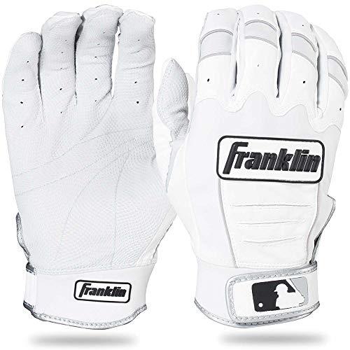 Franklin Sports Adult MLB CFX Pro Batting Gloves, Adult Large, Pair, Pear/White