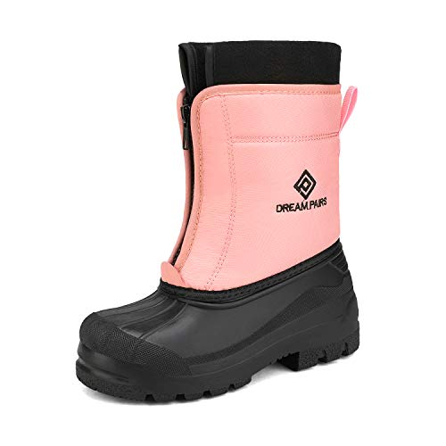 DREAM PAIRS Girls Cold Weather Insulated Waterproof Winter Snow Boots Pink Size 2 Little Kid Kstar