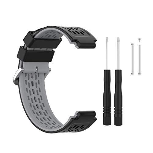 Pulsera de Silicona Compatible con -Garmin-Forerunner 220/230/235/620/630/735XT / 235XT / 235Lite Accesorio