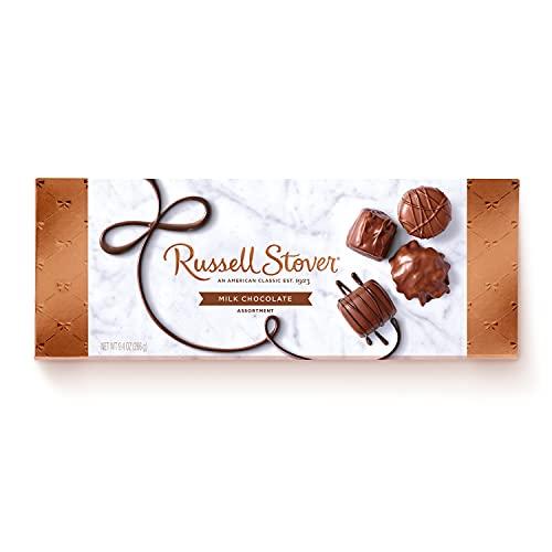 Russell Stover, Milk Chocolate Assortment, Chocolate Gift Box, 9.4...