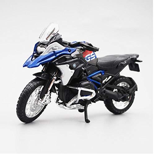 LYXin Scala 1/18 in Scala 1:18 BMW R1200 GS Motociclette Moto modellini Display Regalo di Compleanno per Bambini-BMW R1200 GS