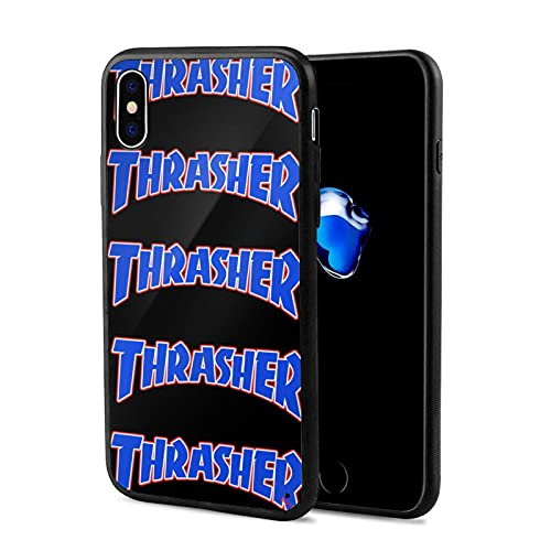 Thrasher iPhone X Mobile Phone Case Full Print Black Edging Stylish Simple Durable and Drop-Resistant