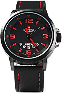 Naviforce Casual Watch For Men Analog Leather - 9055 B-B-R
