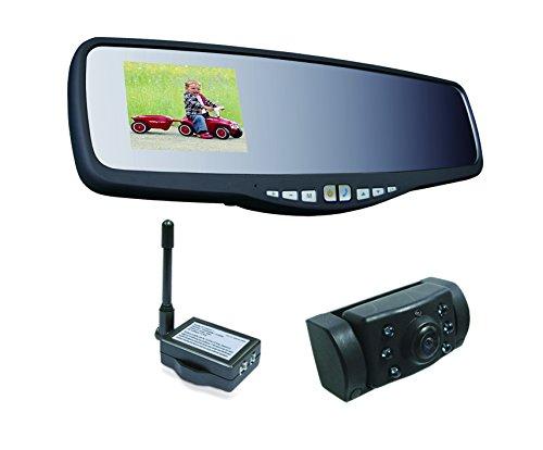 Pro User APB220 20118 Funk-Rückfahrkamerasystem integriert in Rückspiegel mit Bluetooth Freisprechanlage und 2,4'' Monitor und Nachtsichtkamera