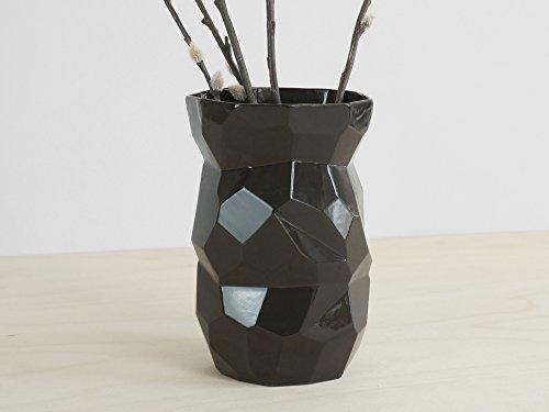 Poligon Schwarz Vasen - limitierte Porzellanvasen blumen
