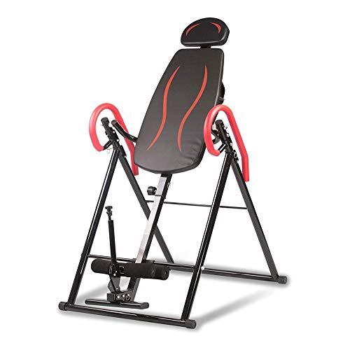 Plegable Tabla de inversión Teeter, ajustable for trabajo pesado Silla Camilla Volver con lumbar del amortiguador, aliviar el dolor de espalda / Reducir Tensión Muscular-de ejercicio de la aptitud Aju ✅