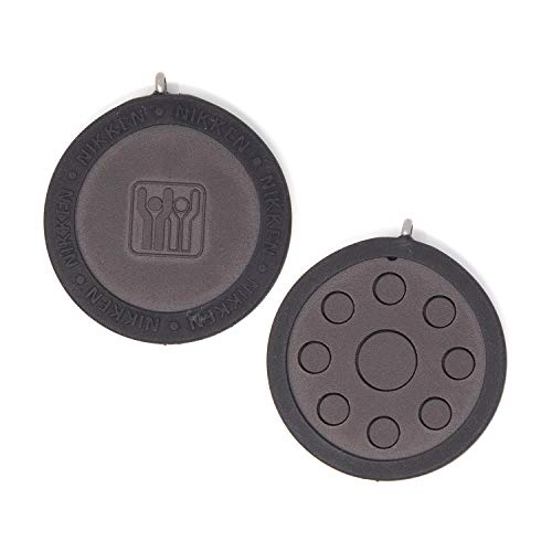 Nikken 1 PowerChip Medallion Charm - 1450, Black, Magnetic Therapy Far Infrared, Reduce Stress Fatigue Soreness, EMF Electromagnetic Frequency Protection Blocker, 900-1000 Gauss, Kenko