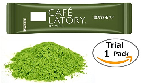 Cafe Latory Matcha Powder By RAPID - Premium Green Tea Latte - Individual Packets For Convenience - Smooth Foaming & Rich Flavor For Smoothies and Drinks- Excellent Natural Energy Source(Trial stick)