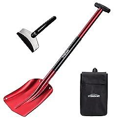 top 10 emergency car shovel Overmont Folding Emergency Snow Excavator 32inch Lightweight Portable Sport Multipurpose Aluminum Three Piece Excavator…