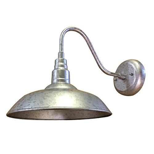 AA Warehousing EL0523S9 Y-Décor Lora 1 - Lámpara de pared para exteriores, color plateado