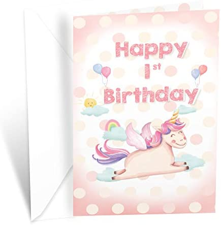 Prime Greetings First 1st Birthday Card product image