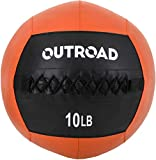 PanAme 10lbs Wall Ball, Medicine Balls with Soft, Workout Weight Ball, Dead Weight Slam Ball for Fitness Gym Exercise, Orange