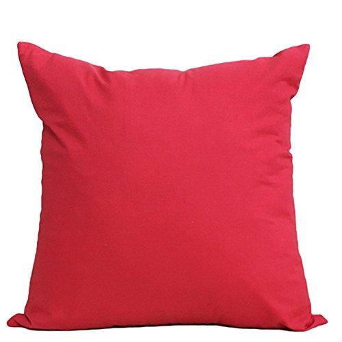 MSYOU algodón Almohada Lanzamiento Almohada Funda de cojín Rose Rojo Fácil sofá Almohada cojín Lumbar Decorativa Auto Almohada ( Peces X 45cm )