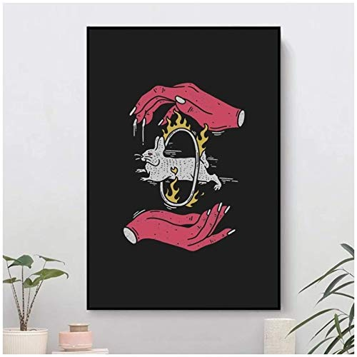 Salvar el conejo Poster Home Wall Art Canvas Picture Print Home Office Hotel Apartment Living Room Decor Painting-24x36 pulgadas Sin marco