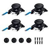 Joycon Joystick Replacement 4 Pack, Replacement Joystick Analog Thumb Stick for Switch Joy-Con Controller & Switch Lite, Left/Right Analog Joystick with Thumbstick Grips & Screws