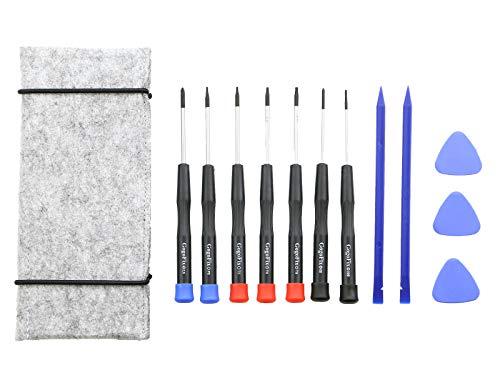 Repair Tool Kit, Precision Screwdrivers, Opening pick, Spudger and Tool Bag for MacBook Air, Retina, Pro (12 Pieces)