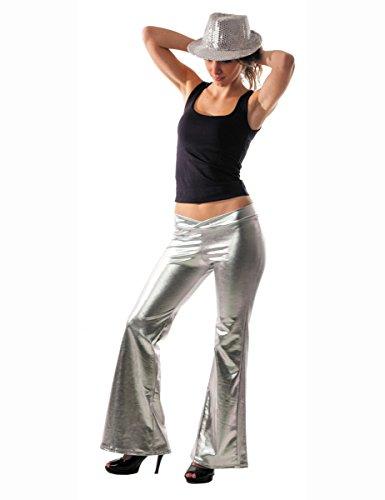 Pantalon Disco holographique Argent Femme Taille Unique