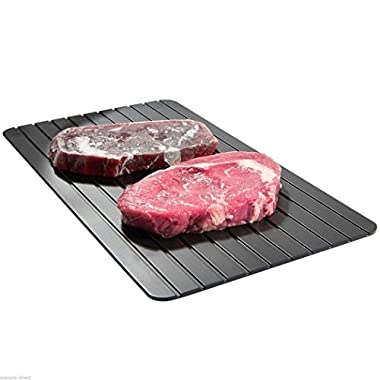 Quick Defrosting Tray, Keepfit Hot Sale Fast Thawing Plate for Frozen Beef Meat The Safest Way to Defrost Meat Or Frozen Food No Electricity, No Chemicals, No Microwave