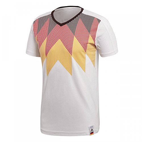 adidas Ger Ci tee Fan - Polo para Hombre, Hombre, Camiseta de Manga Corta, CF1734, Blanco/Negro, Large
