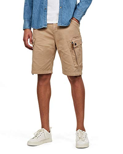 G-STAR RAW Roxic Pantaloncini, Sahara GD C096/B680, 24W Mens