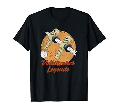 Tischkicker Skelett Tischfußball Vollstrecker Legende Kicker T-Shirt
