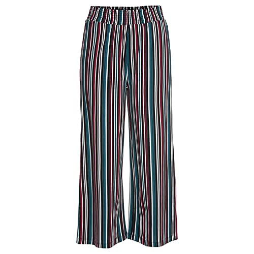 Pantalones Mujer Cintura Alta Boho Otono Verano de Estampado Pierna Ancha con Bolsillos en Casual Fluidos Hippie Harem Aladdin Yoga Pantalon