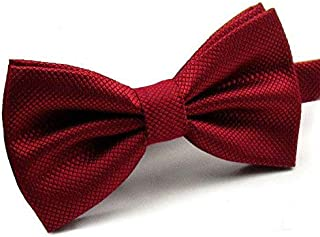 Men bow tie solid polyester neckwear