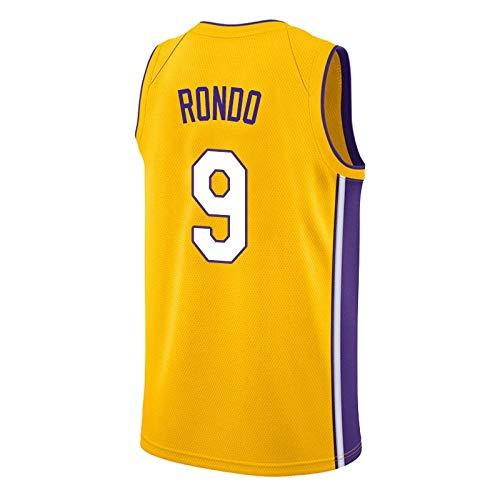 ZJJY Maglia Basket Rajon Rondo # 9 Jersey di Pallacanestro degli Uomini di NBA, Traspirante Ricamato Felpa Fitness T-Shirt Resistente all'Uso Fan Shirt, XS-XXL, L012XQ (Size : M)