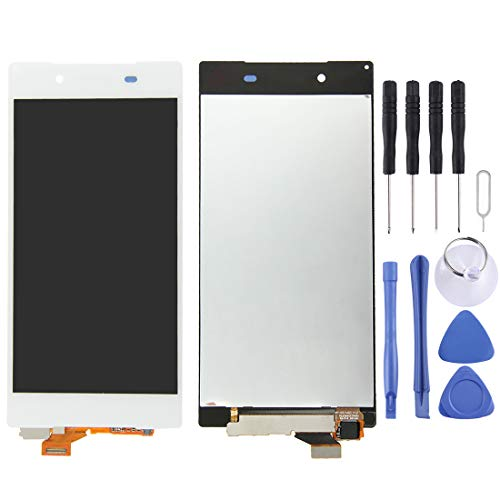 YANGJ LCD Screen Phone Spare Parts LCD Display + Touch Panel for Sony Xperia Z5, 5.2 inch(White) (Color : White)
