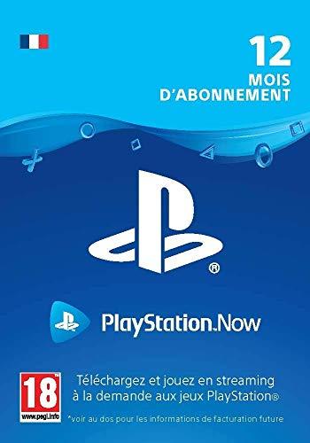 Sony PlayStation Now, Carte d'abonnement de 12 mois, Code jeu à télécharger, Compte Français