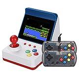 Urhause Consola Juegos Retro,Mini Recreativa Arcade Doble Asa Consola de Videojuegos Clásico Más de 300 Juegos,Rojo Azúl